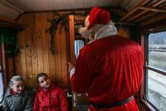 克劳斯・圣诞老人培训 库存照片