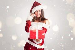 克劳斯・圣诞老人妇女 免版税图库摄影