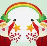 克劳斯・圣诞老人星形 库存图片