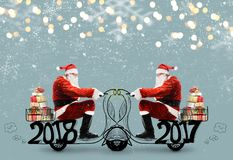 克劳斯・圣诞老人滑行车 免版税库存照片