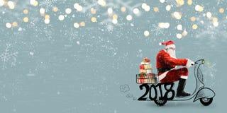 克劳斯・圣诞老人滑行车 免版税图库摄影