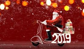 克劳斯・圣诞老人滑行车 免版税库存图片