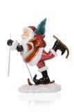 克劳斯・圣诞老人滑雪 库存图片