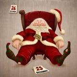 克劳斯・圣诞老人疲倦了 向量例证