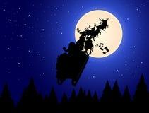克劳斯・圣诞老人雪橇 向量例证