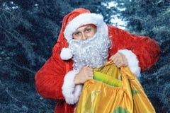 克劳斯・圣诞老人 新的yaer和圣诞节 库存照片