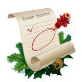 克劳斯信函圣诞老人 库存图片