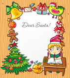 克劳斯信函圣诞老人 免版税库存照片