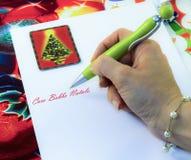 克劳斯信函圣诞老人 图库摄影