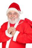 克劳斯充分的大袋圣诞老人 库存照片