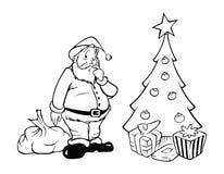 克劳斯分级显示存在圣诞老人 库存例证