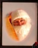 克劳斯列表圣诞老人视窗 免版税库存图片