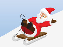 克劳斯去圣诞老人爬犁 图库摄影