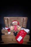 克劳斯在圣诞老人上写字 免版税库存图片