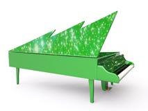 克劳斯大平台钢琴圣诞老人 库存图片