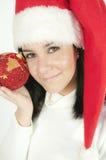 克劳斯女孩圣诞老人 免版税库存图片