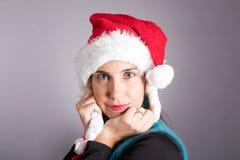 克劳斯女孩圣诞老人 库存图片