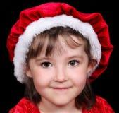 克劳斯女孩帽子圣诞老人 库存照片