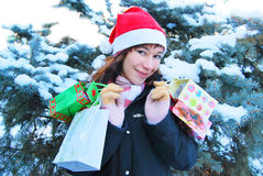 克劳斯女性圣诞老人 免版税库存图片