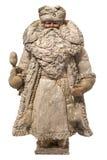克劳斯奶油色冰mache纸张圣诞老人玩具 库存图片