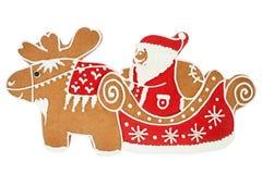 克劳斯姜饼圣诞老人 免版税库存图片