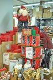 克劳斯形象室外圣诞老人场面 图库摄影