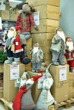克劳斯形象室外圣诞老人场面 免版税库存图片