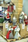 克劳斯形象室外圣诞老人场面 库存照片