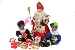 克劳斯文化荷兰语宴餐传统的圣诞老&# 图库摄影