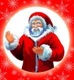 克劳斯明信片圣诞老人 免版税库存照片