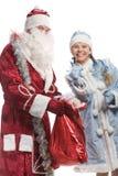 克劳斯未婚圣诞老人微笑的雪 库存图片