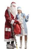 克劳斯未婚圣诞老人微笑的雪 免版税图库摄影