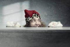 克劳斯疯狂的圣诞老人 库存图片
