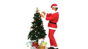 克劳斯礼品圣诞老人 股票视频