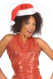 克劳斯种族友好帽子圣诞老人夫人佩&# 库存图片
