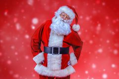 克劳斯纵向圣诞老人 免版税库存图片