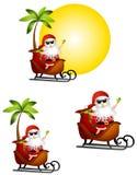 克劳斯节假日圣诞老人旅行 库存照片