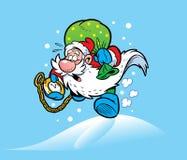 克劳斯节日仓促圣诞老人 库存照片