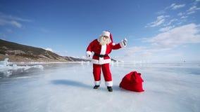 克劳斯跳舞圣诞老人 影视素材
