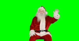 克劳斯递圣诞老人挥动 股票视频