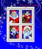 克劳斯霜祖父圣诞老人印花税 库存照片