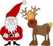 克劳斯驯鹿圣诞老人 图库摄影