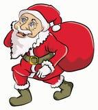 克劳斯・圣诞老人走 库存照片