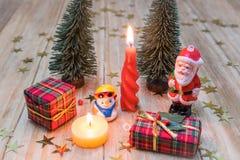 克劳斯・圣诞老人雪人 免版税库存图片