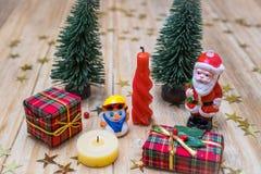 克劳斯・圣诞老人雪人 库存图片