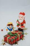 克劳斯・圣诞老人雪人 免版税库存照片