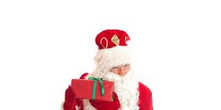 克劳斯・圣诞老人 您空间的文本 库存图片