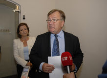 克劳斯HJORT FREDERIKSEN_KAREN ELLEMANN延森 免版税库存图片