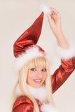 克劳斯portrait圣诞老人夫人微笑 库存图片