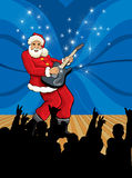 克劳斯rockstar圣诞老人 免版税库存图片